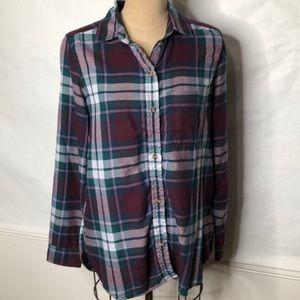 American Eagle flannel boyfriend fit plaid shirt
